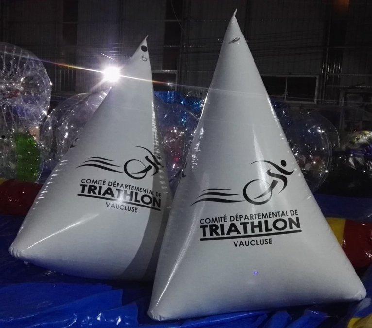 bouée gonflable balisage triathlon