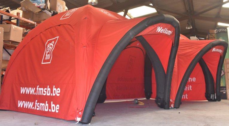 tentes gonflable tonnelle personnalisable