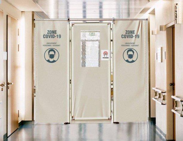 paravent separation amovible pour couloir covid19